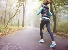 Бежать в осени Стоковое фото RF