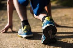 бежать для проигрышного веса на парке стоковое изображение