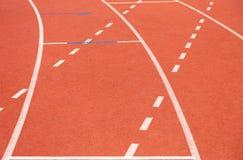 бежать линии атлетических Спорт стадион стоковое изображение rf
