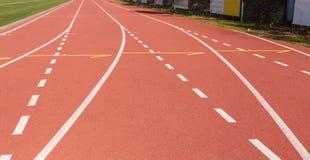 бежать линии стадион Спорт атлетических стоковая фотография