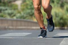 Бежать ног бегуна Стоковая Фотография