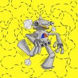 Бежать робот испускает сигнал Стоковое Изображение RF