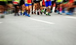 Бежать спортсменов марафона стоковые изображения