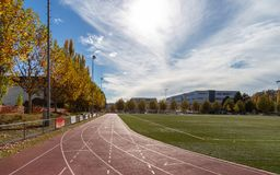 бежать Спорт атлетических линии стадион стоковая фотография rf