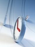 бежать часов иллюстрация вектора