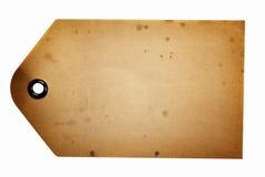Бежевая бумажная бирка подарка Стоковая Фотография RF