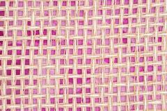 Бежевая и розовая деревянная предпосылка weave Стоковое фото RF