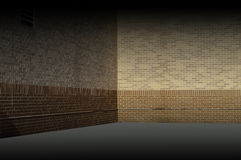 Бежевая иллюстрация текстуры предпосылки кирпичной стены Стоковая Фотография
