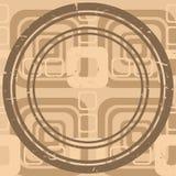 бежевая картина графика окружности Бесплатная Иллюстрация