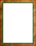 бежевая кожа зеленого цвета граници Стоковая Фотография