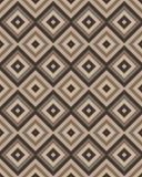 Бежевая коричневая квадратная безшовная картина также вектор иллюстрации притяжки corel Стоковое Изображение RF