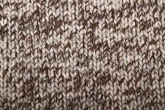 бежевая связанная ткань Стоковые Фото