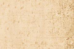 Бежевая старая и поцарапанная бумага Стоковые Изображения RF