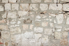 Бежевая старая каменная текстура стены кирпичей Стоковые Изображения RF