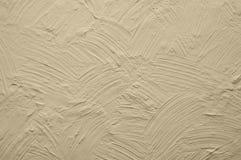 Бежевая стена с сбросом гипсолита Стоковая Фотография RF