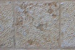 Бежевая текстура каменной стены Стоковое Изображение