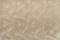 Бежевая текстура предпосылки флористических обоев Стоковые Фотографии RF