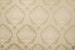Бежевая текстура предпосылки флористических обоев Стоковая Фотография