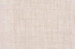 Бежевая текстура хлопко-бумажной ткани холста Стоковые Изображения RF