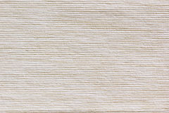 Бежевая ткань текстуры Ребристый холст Стоковая Фотография