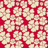 Бежевая флористическая безшовная картина также вектор иллюстрации притяжки corel Стоковое Фото