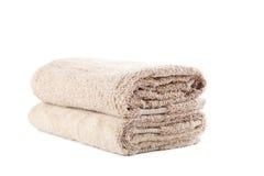 Бежевое полотенце стоковое фото rf