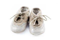 Бежевые ботинки для детей Стоковые Фотографии RF