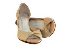 бежевые ботинки Стоковое Фото
