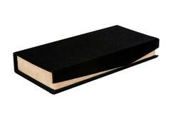 бежевый бархат подарка черного ящика Стоковое Фото