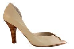 бежевый ботинок Стоковые Фотографии RF