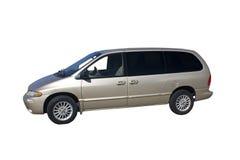 бежевый миниый фургон Стоковое Фото