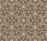 Бежевый морокканский орнамент в векторе Стоковое Изображение