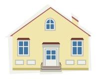 Бежевый дом иллюстрация вектора
