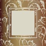 бежевый сбор винограда grunge рамки Стоковое Изображение RF