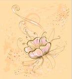 бежевый цветок Иллюстрация вектора