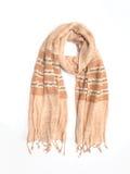 Бежевый шарф ткани одежды из твида Стоковая Фотография
