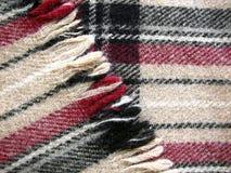 бежевый tartan ткани Стоковое Изображение RF