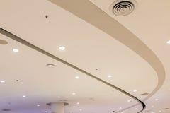 Бежевым установленные потолком шарики диктора Стоковое Фото