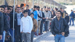 Беженцы в лагере стоковая фотография