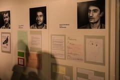 Беженцы говорят их рассказы в выставке Angekommen Стоковые Фотографии RF