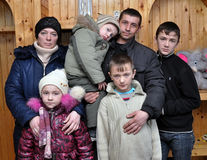 Беженцы от зоны Luhansk Стоковые Изображения RF