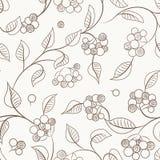 Беж коричневого цвета картины куста ягод осени безшовный Стоковое Изображение RF
