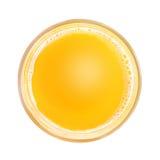 Безалкогольный напиток в стекле Взгляд сверху Стоковое Изображение