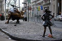 Безбоязненная девушка Стоковые Фото