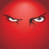 Безбоязненные глаза Стоковые Изображения