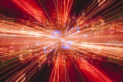 Безграничность созданная светами ночи города стоковое изображение rf