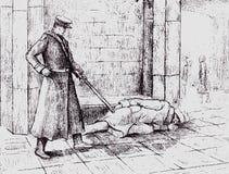 бездомная персона иллюстрация штока