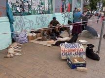 Бездомные как в городке Стоковая Фотография