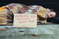 бездомный человек Стоковые Изображения RF