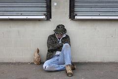бездомный человек Стоковые Фото